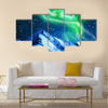 Northern Colorful lights ,aurora borealis Multi panel canvas wall art