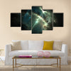 Pulsar in the nebula Multi Panel Canvas Wall Art
