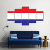 Vector of Netherlands Flag Multi panel canvas wall art