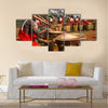 Gishora drummer in Burundi Multi panel canvas wall art