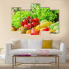 Fresh fruits and vegetables Multi panel canvas wall art