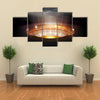 A Stadium At Night With Its Wispering Beauty, Brazil, Multi Panel Canvas Wall Art