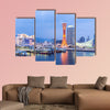Skyline and Port of Kobe Tower Kansai, Japan multi panel canvas wall art
