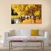 Beautiful autumn forest in park ' Pushkin Multi panel canvas wall art