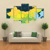 Color map of China multi panel canvas wall art