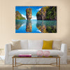 Beautiful nature of Thailand. James Bond island reflects in water near Phuket Multi Panel Canvas Wall Art