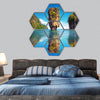 James Bond island reflects in water near Phuket hexagonal canvas wall art