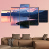 Light morning to the viewpoint at Abisko, Sweden Multi panel canvas wall art