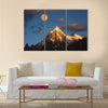 Morning sunrise over Paiyu peak in Karakoram Multi panel canvas wall art