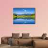 Panoramic view of idyllic summer landscape multi panel canvas wall art