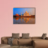 Taj Mahal, Agra, India, on sunset multi panel canvas wall art