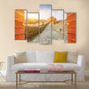 The Great Wall in the sunset,in Beijing, China multi panel canvas wall art