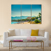 Beach The Palm De Mollocra, Spain Multi Panel Canvas Wall Art