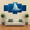Beautiful Stingray Underwater Multi Panel Canvas Wall Art