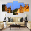"view of ""Rozenhoedkaai"" Brugge Belgium Multi panel canvas wall art"