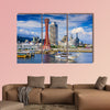 Kobe, Japan city skyline multi panel canvas wall art