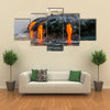 Sea view of Kilauea Volcano in Big Island, Hawaii, United States multi panel canvas wall art