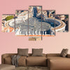 Saint Peter's Square in Vatican and aerial view of the city, Rome, Italy wall art