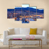 View of Monaco at night Multi panel canvas wall art
