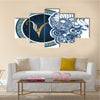 Illustration Of Zodiac Sign Aries Multi Panel Canvas Wall Art