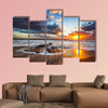 Beautiful cloudscape over the sea, sunrise shot Multi panel canvas wall art