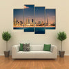 United Arab Emirates Downtown of Dubai in the sunset Multi panel canvas wall art