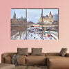 Rideau Canal skating rink, Parliament of Canada in winter wall art