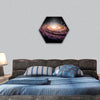 Spiral Galaxy in deep space hexagonal canvas wall art