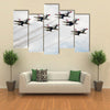 View Of USA Air Force Thunderbird In Air, Multi Panel Canvas Wall Art