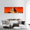 Pyramid on Mars panoramic canvas wall art.