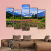 Mendenhall Glacier Viewpoint with Fireweed in bloom. Juneau, Alaska multi panel canvas wall art