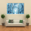 Winter Scenery, Frosty Trees In A City Park, Multi Panel Canvas Wall Art
