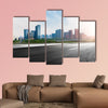 The city and the road in the modern office building background wall art
