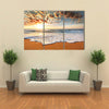 Brilliant ocean beach sunrise Multi panel canvas wall art