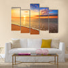Beautiful tropical sunrise on the beach Multi panel canvas wall art