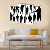 Silhouettes Of Soldiers For The Preparation Of The War, Multi Panel Canvas Wall Art
