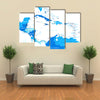 Central America map - highly detailed vector illustration multi panel canvas wall art