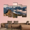 Mountain landscape in the lofoten Norway panoramic view multi panel canvas wall art