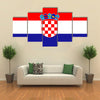 Standard Proportions And Color For Croatia Flag Multi Panel Canvas Wall Art