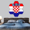 Standard Proportions and color for Croatia Flag hexagonal canvas wall art