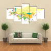 Eurasia map - highly detailed vector illustration multi panel canvas wall art