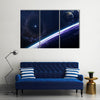 Mesmerizing Scenery Of Outer Space Multi Panel Canvas Wall Art