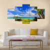 Apia, Samoa canopy by the beach Multi panel canvas wall art