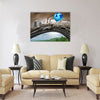Climate change global agreement concept as a blue balloon Multi Panel Canvas Wall Art