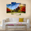Autumn Foliage at the Golf Course Multi Panel Canvas Wall Art