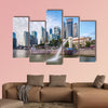 Singapore skyline and river at Merlion Bay multi panel canvas wall art