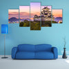 Himeji, Japan dawn at Himeji Castle multi panel canvas wall art