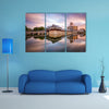 Hiroshima, Japan at the castle moat multi panel canvas wall art