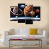 High resolution images presents planets of the solar system Multi Panel Canvas Wall Art