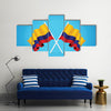 Colombia Flag Multi panel canvas wall art